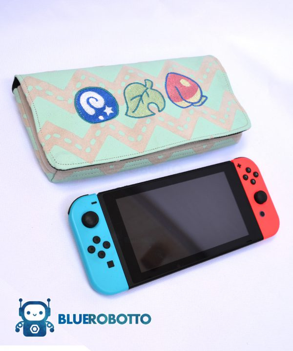 Crossing Items Pastel Nintendo Switch Case Blue Robotto